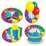 "Raumdeko ""Happy Birthday Party"" 4er Pack"