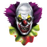 "Raumdeko ""Horror-Clown"" aus Pappe 40 cm"