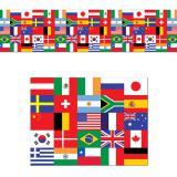 "Raumdeko ""Internationale Flaggen"" 46 x 762 cm"