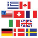"""Raumdeko """"Internationale Flaggen"""" 10-tlg."""