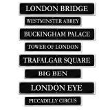 """Raumdeko """"Londoner Sehenswürdigkeiten"""" 4-tlg."""