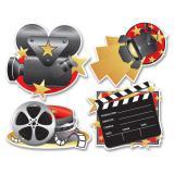 "Raumdeko ""Modernes Filmequipment"" 41 cm 4-tlg."