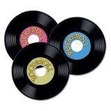 "Personalisierbare Raumdeko ""Rock & Roll-Schallplatte"" 3er Pack"