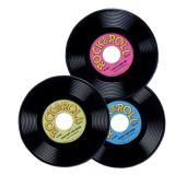 "Raumdeko ""Rock & Roll-Schallplatte"" 3er Pack"