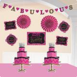 "Raumdeko-Set ""Fabulous Birthday"" 10-tlg."