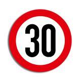 """Raumdeko Verkehrsschild """"30. Geburtstag"""" 36 cm"""