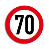 """Raumdeko Verkehrsschild """"70. Geburtstag"""" 36 cm"""