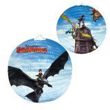 """Runde Laterne """"Dragons - die Wächter von Berk"""" 25 cm"""