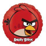 """Runder Folien-Ballon """"Angry Birds - Roter Vogel"""" 23 cm"""