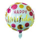 Runder Folienballon Happy Birthday 45 cm