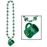 """Schnapsglas mit Kette """"Happy St. Patrick's Day"""" 4,5 cm"""