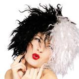 Schwarz-Weiß Perücke Cruella
