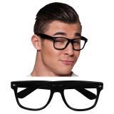 """Schwarze Brille """"Klare Sicht"""" 4er Pack"""