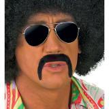 Schwarzer Retro-Schnurrbart selbstklebend