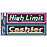 Selbstklebende Casinoschilder Neon 52 cm 2-tlg.