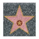 "Selbstklebende Raumdeko ""Walk of Fame"" 29,5 cm"