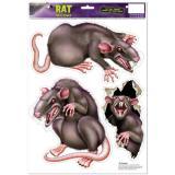 "Selbstklebende Wanddeko ""Ratten"" 3-tlg."