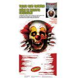 """Selbstklebende WC-Dekofolie """"Horror-Clown"""" 3-tlg."""