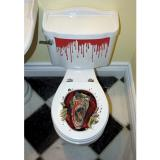 """Selbstklebende WC-Dekofolie """"Zombie"""" 3-tlg."""