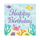 """Servietten """"Kleine Meerjungfrau und Freunde"""" Happy Birthday 16er Pack"""