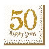 """Servietten """"50 Happy Years"""" 16er Pack"""