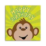 """Servietten Happy Birthday """"Affenparty"""" 16er Pack"""