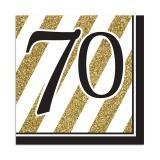 "Servietten ""Black & Gold 70"" 16er Pack"
