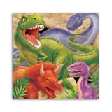 """Servietten """"Gefährliche Dinosaurier"""" 16er Pack"""