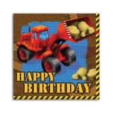 "Servietten Happy Birthday ""Aufregende Baustelle"" 16er Pack"