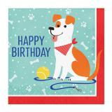 "Servietten ""Hunde Party"" Happy Birthday 16er Pack"