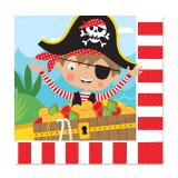 """Servietten """"Kleiner mutiger Pirat"""" 16er Pack"""