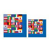 "Servietten ""Internationale Flaggen"" 16er Pack"