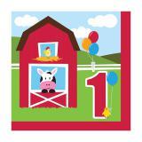 """Servietten """"Meine kleine Farm"""" 1. Geburtstag 18er Pack"""