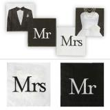 "Servietten ""Mr & Mrs"" 20er Pack"