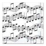 Servietten Musiknoten 32,7 cm 16er Pack