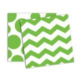 """Servietten """"Punkte & Streifen"""" 16er Pack-grün"""