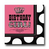 "Servietten ""Rocky Birthday Girl"" 16er Pack"