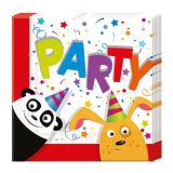 """Servietten """"Tierischer Partyspaß"""" 20er Pack"""