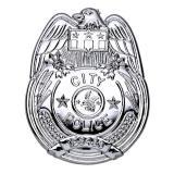 """Silbernes Polizeiabzeichen """"City Police"""" 8 cm"""