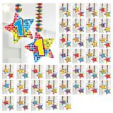 """Spiral-Deckenhänger mit Zahl """"Happy Crazy Birthday"""" 2er Pack-75"""