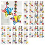 """Spiral-Deckenhänger mit Zahl """"Happy Crazy Birthday"""" 2er Pack-90"""