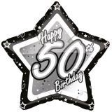 "Sternförmiger Folien-Ballon ""Happy Birthday Stars 50"" 45 cm"