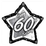 "Sternförmiger Folien-Ballon ""Happy Birthday Stars 60"" 45 cm"