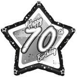 "Sternförmiger Folien-Ballon ""Happy Birthday Stars 70"" 45 cm"