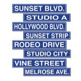 Straßenschilder Hollywood 61 cm 4-tlg.