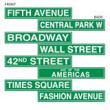 Straßenschilder New York 61 cm 4-tlg.
