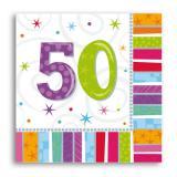 """Servietten 50 """"Strahlender Geburtstag"""" 16er Pack"""