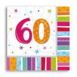 """Servietten 60 """"Strahlender Geburtstag"""" 16er Pack"""