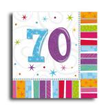 """Servietten 70 """"Strahlender Geburtstag"""" 16er Pack"""