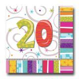 """Servietten 20 """"Strahlender Geburtstag"""" 16er Pack"""